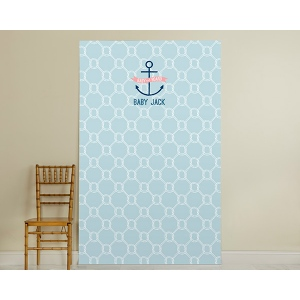 Personalized Photo Booth Backdrop, Kate's Nautical Baby Shower Collection: Nautical Rope