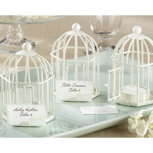 Spring Song, Birdcage Tealight, Place Card Holder