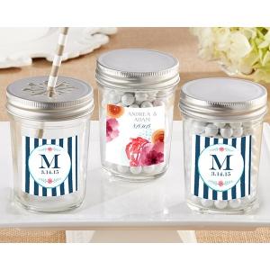 Personalized Mason Jar, Botanical: Set of 12