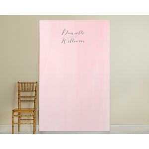 Personalized Pink Watercolor Photo Backdrop