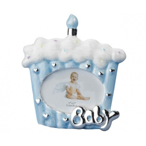 Lillian Rose Cake Baby Frame 2x3 Blue