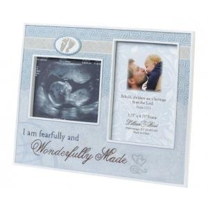 Lillian Rose Wonderfully Made Ultrasound Frame: Blue