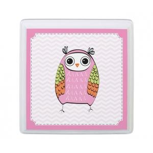 Lillian Rose Pink Owl Sm Square Sign