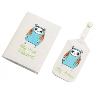 Lillian Rose Blue Owl Tag & Passport