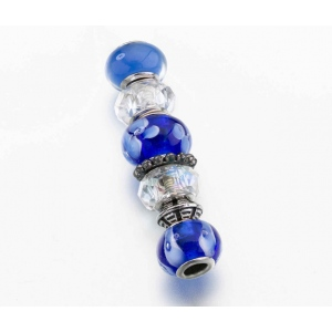 Lillian Rose Assorted Beads: Blue, Set of 7