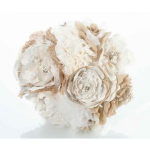 lillian rose burlap and flower bouquet bouquets. Black Bedroom Furniture Sets. Home Design Ideas