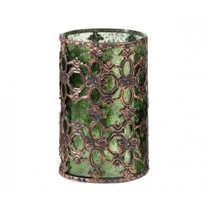 Lillian Rose Green Glass Tealight Holder