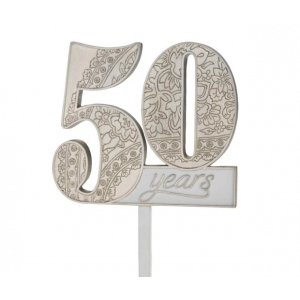 Lillian Rose 50Th Anniversary Cake Pick