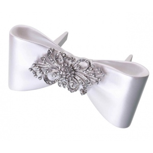 Lillian Rose Bow with Rhinestone Cake Pick