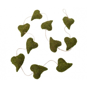 Lillian Rose Moss Heart Garland