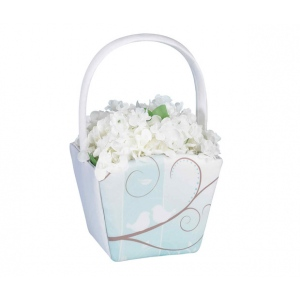 Lillian Rose Love Birds Flower Basket