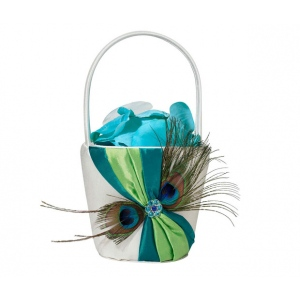 Lillian Rose Peacock Flower Basket