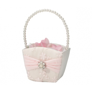 Lillian Rose Blush Pink Flower Basket