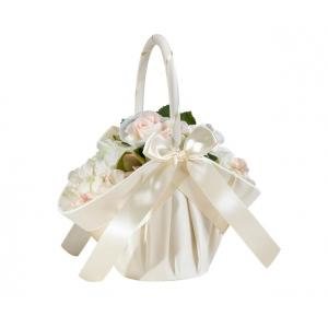 Lillian Rose Large Satin Basket - Ivory