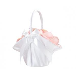 Lillian Rose Large Satin Basket - White