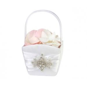 Lillian Rose Jeweled Motif Flower Basket