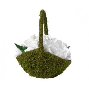 Lillian Rose Moss Flower Basket