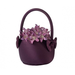 Lillian Rose Plum Flower Basket