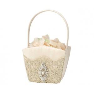 Lillian Rose Gold Lace Flower Basket