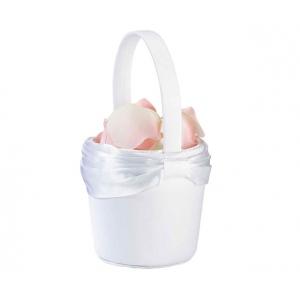 Lillian Rose White Sash Flower Basket