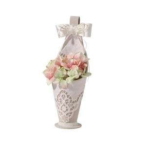 Lillian Rose Country Lace Flower Basket