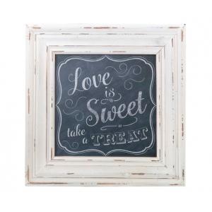 Lillian Rose Love Is Sweet Square Framed Sign