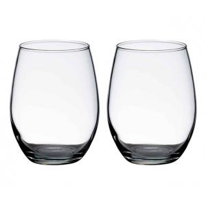 Lillian Rose Set of 2 Stemless Wine Glasses