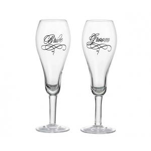 Lillian Rose Bride & Groom Glasses