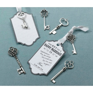 Lillian Rose Set of 24 Silver Key Tags