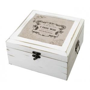 Lillian Rose Antique White Card Box - True Love