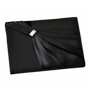Lillian Rose Satin Sash Guest Book - Black