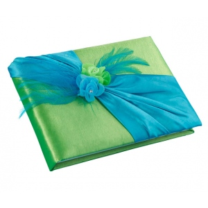 Lillian Rose Blue & Green Guest Book