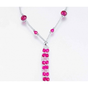 Lillian Rose Set of 2 Bead Foot Jewelry - Hot pink