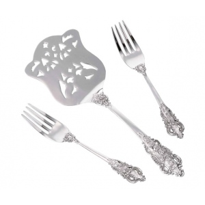 Lillian Rose Silver Server & Two Forks