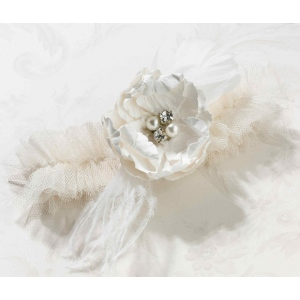 Lillian Rose Chic & Shabby Garter - Cream