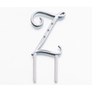 Lillian Rose Silver Rhinestone Monogram - Small Z