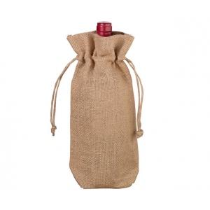 Lillian Rose Burlap Wine Bag - Blank