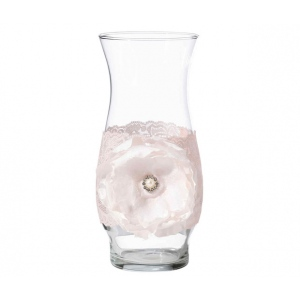 Lillian Rose Set of 4 Blush Pink Glass Wraps