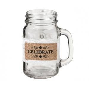 Lillian Rose Set of 6 Burlap Glass Celebrate Wraps