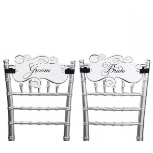 Lillian Rose Bride & Groom Chair Signs