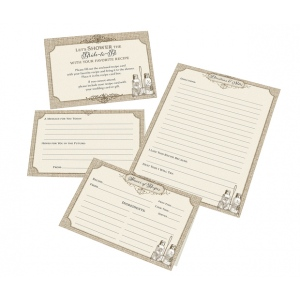 Lillian Rose Set of 24 Recipe Cards - Tan