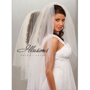 Illusions Bridal Corded Edge Veil S7-362-C