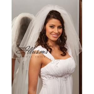Illusions Bridal Corded Edge Veil S1-202-C