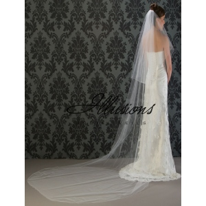 Illusions Bridal Corded Edge Veil C7-1202-C
