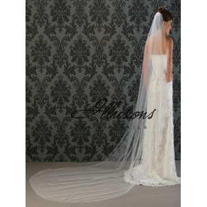 Illusions Bridal Corded Edge Veil 7-1201-C