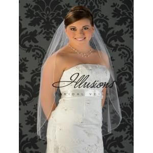 Illusions Bridal Corded Edge Veil 5-361-C: Pearl Accent