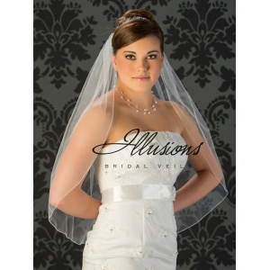 Illusions Bridal Corded Edge Veil 5-301-C: Cheap