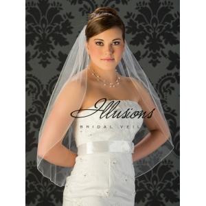 Illusions Bridal Corded Edge Veil 5-301-C: Cheap, Rhinestone Accent