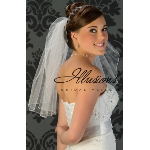 Illusions Bridal Veil 1-201-C: Rhinestone Accent