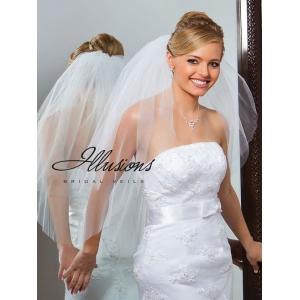 Illusions Bridal Cut Edge Veil S1-302-CT